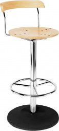 Hocker BISTRO H960mm chrom/Buche