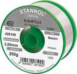 Stannol Fittingslot D. 3 mm Nr.428190 250g