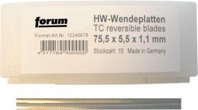 FORUM Wendeplatte HW 82X5,5X1,1mm