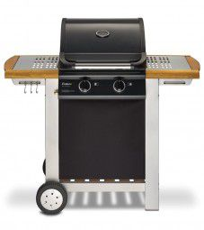 Enders Gasgrill Baltimore mit Wagen in edler Holz / Stahl Optik
