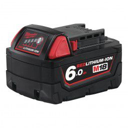 Milwaukee Akku M18 B6 (18 V/6.0 Ah Li-Ion) Red Li-Ion