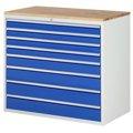 Schubladenschrank mit Arbeitsfläche / Arbeitsplatte