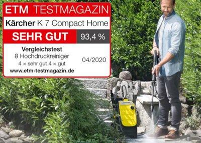 """Kärcher Hochdruckreiniger K 7 Compact Home erreicht Testnote """"SEHR GUT"""""""