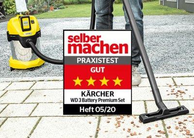 Kärcher Akku Nass-Trocken-Sauger WD 3 Battery Premium Set überzeugt im Test