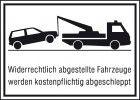 Parkverbotschild Alu 400X250 mm Widerrechtl.