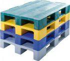 Alpha Kunststoff Palette,geschl.,gelb1200x800x150mm,1800kg