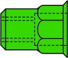 GESIPA Blindnietmuttern Teilsechskant A4-Edelstahl Kleinkopf M 5 x 7 x 12,5, 500 St.