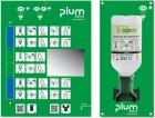 plum Augenspülstation 4611 mit 1x Eyewash 0,9% Sodium Chloride