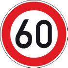 Verkehrszeichen 60 km/h VKZ 274-60